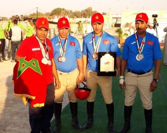 l'Equipe Marocaine brille au Championnat International du Tent Pegging Du 21 au 22 Février 2019 à Abou Dhabi.