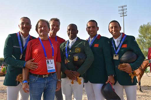 Le Maroc décroche la médaille d'or du Saut d'obstacles par Equipe Jeux Africains 2019